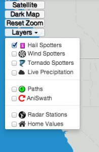 hailstrike map layers